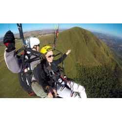 voo duplo de paraglider no topo do mundo, Serra da Moeda